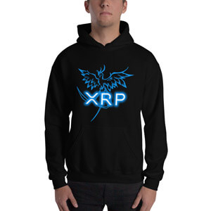 XRP Hoodie with XRP Logo and a rising Phoenix